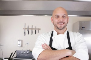 Portrait of a professional chef smiling