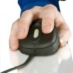 יד על עכבר מחשב